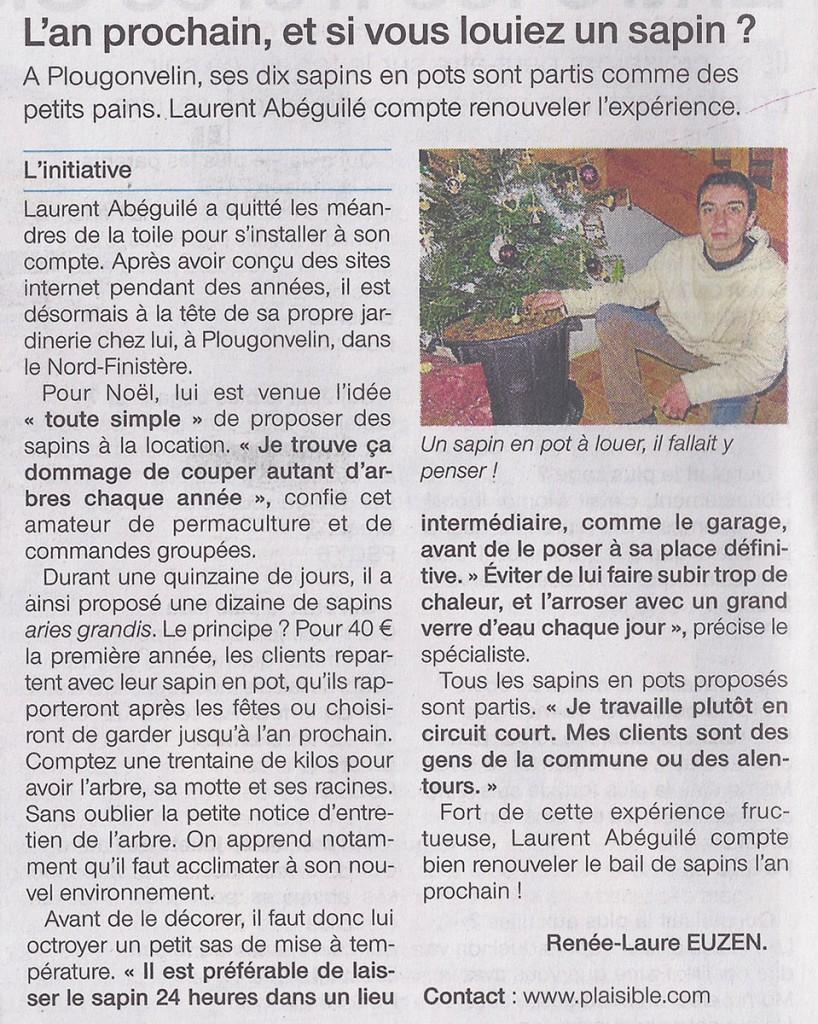 Ouest France du 21 12 2012