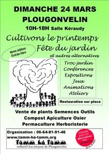 Affiche de la fête du jardin 2013