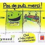 Autocollant STOP PUB Symeed29