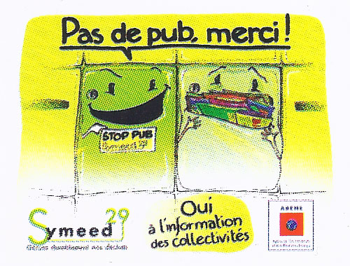 Autocollant STOP PUB gratuit Symeed29