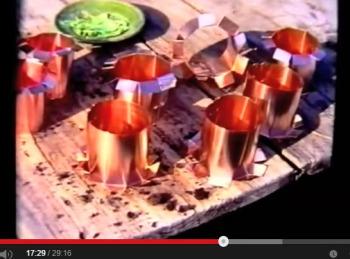 Cylindres en cuivre anti-limaces