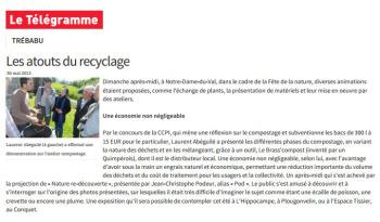 Sensibilisation au compostage et au broyage à Trébabu